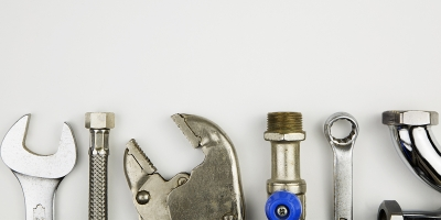 an assortment of tools against a white background